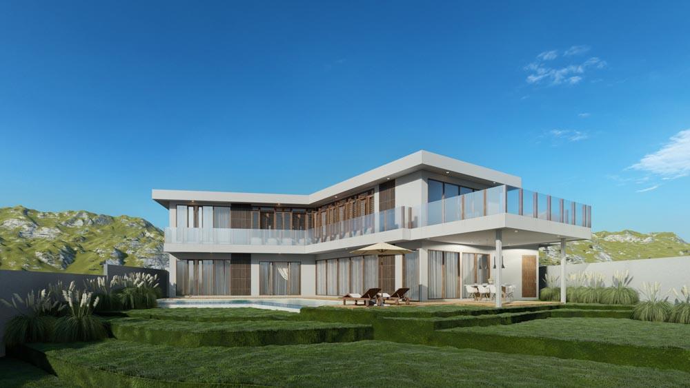 V-Shape Design Architecture Bali