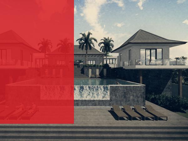 3D rendering villa Bali