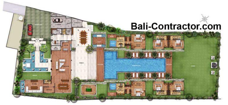 Bali Floor Plan Villa